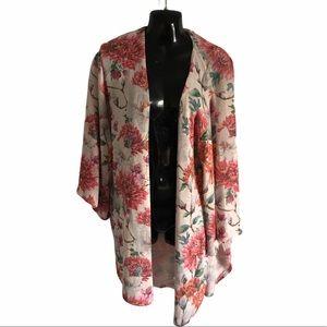 CHRIS & CAROL waterfall tunic sweater flower print